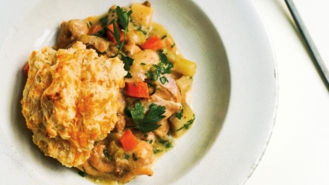 Slow Cooker Chicken Cobbler