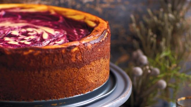 Muscadine Marbled Cheesecake